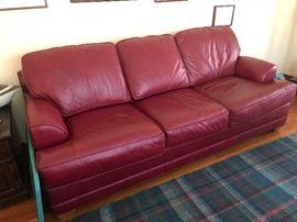 Leather La-Z-Boy sofa in excellent condition