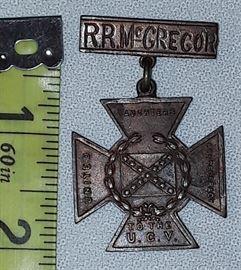 U.C.V. Medal - R.R. McGregor - Covington,TN