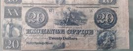 Holly Springs Miss. $20.00 Note
