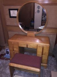 Art Deco vanity. This is at the daughters house not far away and can be seen there.