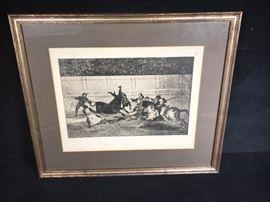 Francisco Goya La Tauromaquia Etching