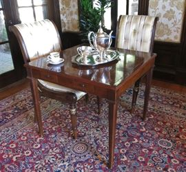 Mahogany Game Table (chairs & rug  are unavailable)