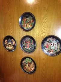 Vintage  Russian legends collector plates