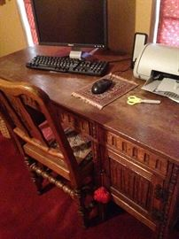 Smaller desk and chair
