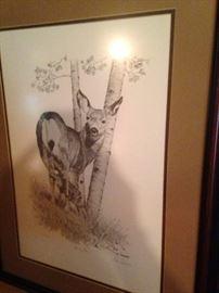 Deer and fawn by Dan Andrews (311/500)