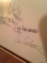 Signed and numbered - artist Dan Andrews