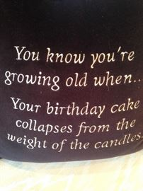 """Pillow - """"You know you're growing old when . . . """""""
