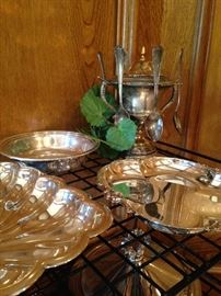 Silver plate platters