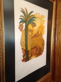 """""""Leo"""" matted and framed art (117/200) by Judith Bledsoe"""
