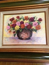 Oil on canvas by Frances Adams