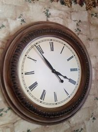Wall clock to remind you of the time.