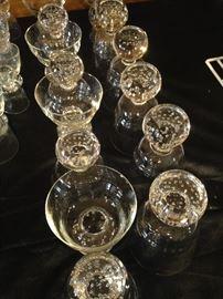 """""""Bubbles in glass""""  barware"""