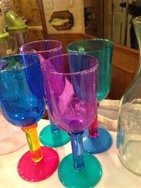 More colorful plastic glasses