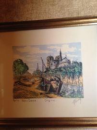Paris - Notre Dame - by artist M Haranz