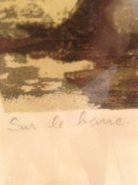 """Sur le banc (""""On the Bench"""") by M. Haranz"""