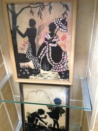 Vintage silhouette pictures