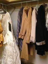 Coats; bridal dress
