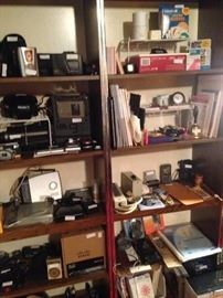 Many electronics; office supplies