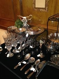 Other silver plate and crystal selections