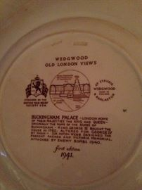 """Wedgwood """"Old London Views"""" - plates of historic locations"""