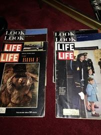 LIFE and LOOK magazines
