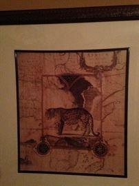 African animal framed art