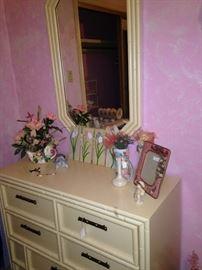Matching mirror and dresser