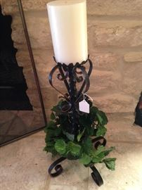 One of two candle holders