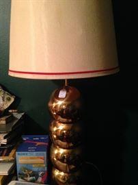 Large brass lamp