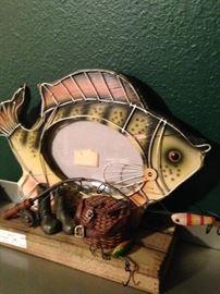 Fishing theme frame