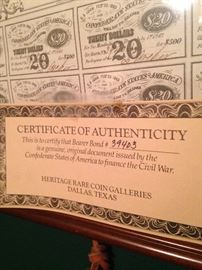 Authenticity from the Heritage Rare Coin Galleries - Dallas TX
