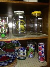 Tea jars and poolside dishes