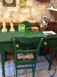 Small desk and chair perfect for the kitchen or another room