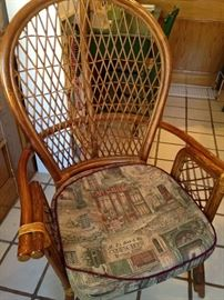 One of four breakfast room chairs