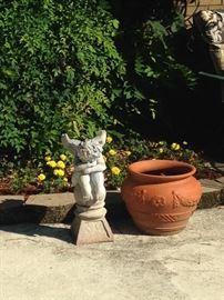 Small cherub statue