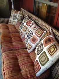 Three-cushion patio sofa