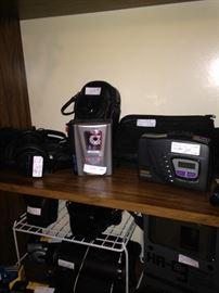 Variety of vintage cameras