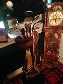 Golf club plant stand; dimensional jigsaw clock puzzle