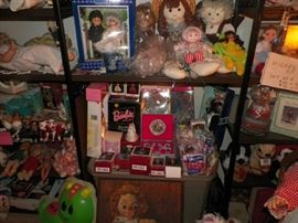 A few Barbie dolls, Barbie Hallmark, McDonald's Barbies and other miscellaneous Barbie items