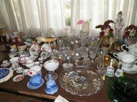 An assortment of the many glassware items we have available