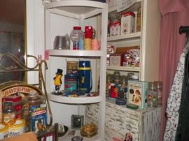 Planters and Campbell's collectibles.  Dresser and hutch also available.