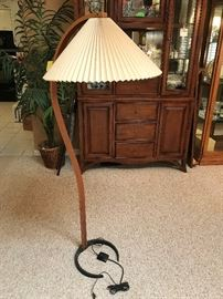 DANISH MODERN CAPRANI LIGHT TEAK FLOOR LAMP MADS CAPRANI