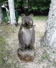 One of the Wood Bears that  surround the home,  Even more inside house.  :)