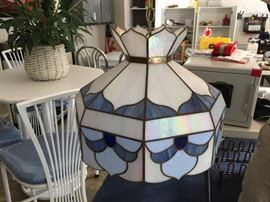 Tiffany hanging lamp.