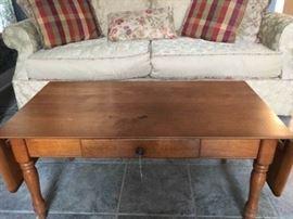 Mid Century drop leaf coffee table