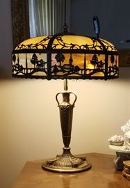 Outstanding  arts and crafts era lamp.