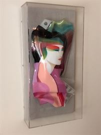 Ned Moulton Contemporary Reverse Painted Acrylic Sculpture