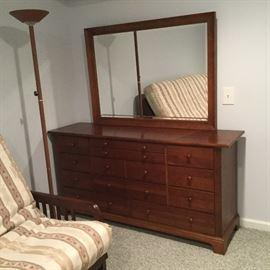 $175   Cherry wood dresser with mirror