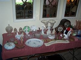 MANTLE CLOCK, AND OTHER SMALLS