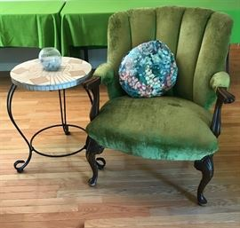 Antique Green Chair